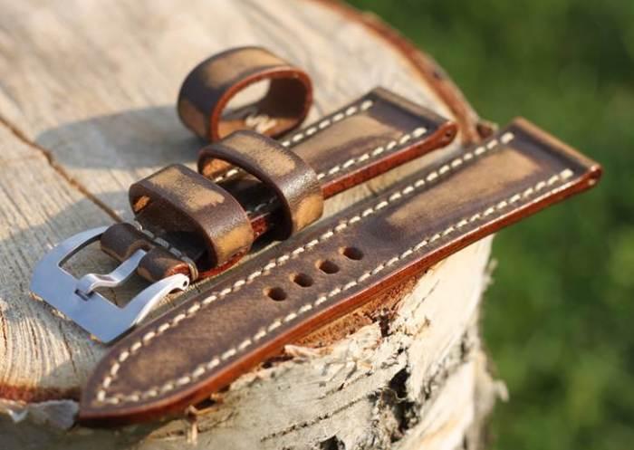 vintage brown strap 24/22mm