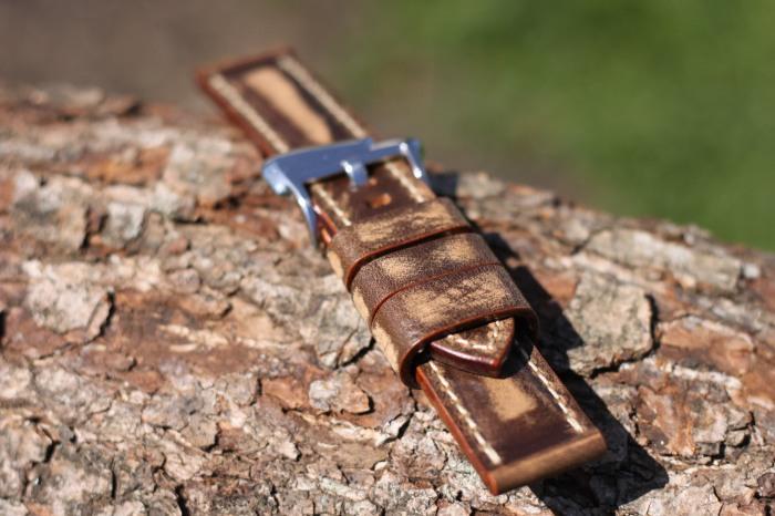vintage brown strap 24/24mm